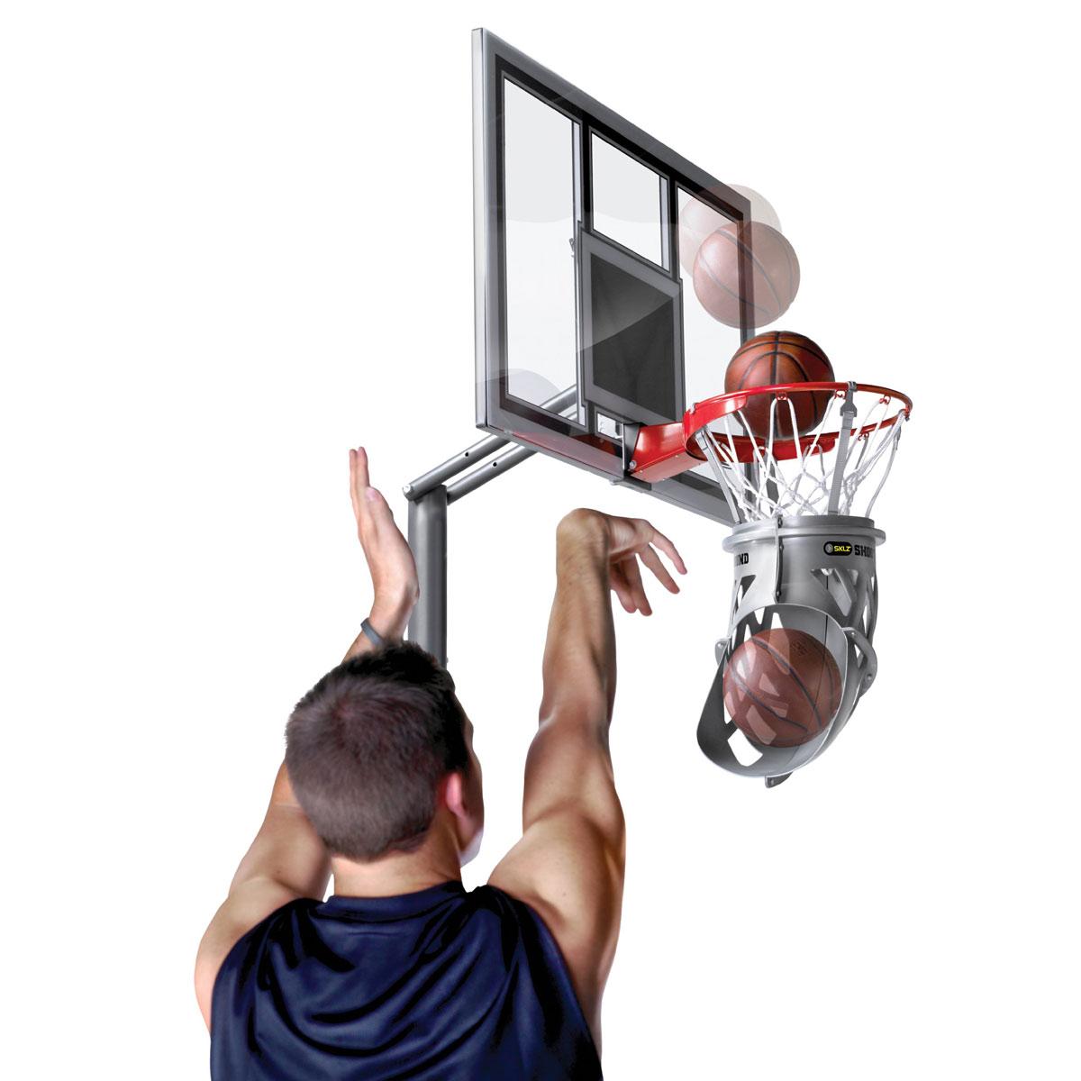 Другие товары SKLZРукав для возврата мяча SKLZ Shoot AroundТренажер баскетбольных бросков SKLZ Shoot Around помогает отработать технику и наладить ритм. Он обеспечивает возвращение мяча обратно к игроку быстро и последовательно.<br><br>Цвет: Серый<br>Выберите размер US: 1SIZE