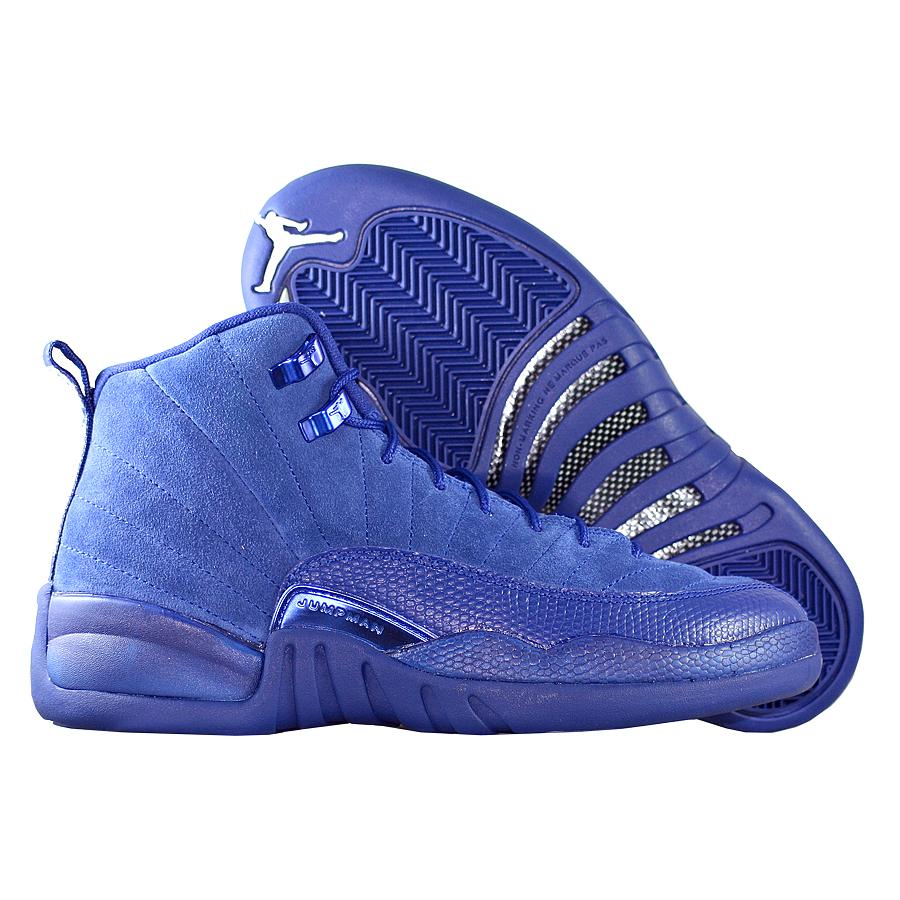 """Кроссовки детские баскетбольные Air Jordan 12 (XII) Retro GS """"Deep Royal Blue"""""""