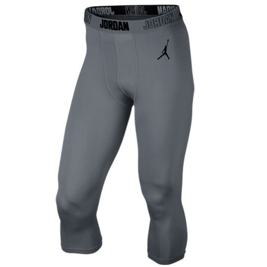 Другие товары JordanКомпрессионные брюки Air Jordan All Season 23 Compression Three-Quarter 3/4<br><br>Цвет: Серый<br>Выберите размер US: L
