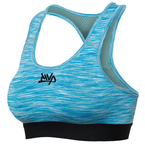 Другие товары MVPЖенский компрессионный топ MVP Sport Bra Women<br><br>Цвет: Голубой<br>Выберите размер US: M|L|XL