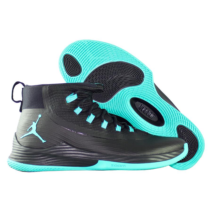 Кроссовки JordanКроссовки баскетбольные Air Jordan Ultra.Fly 2 quot;Clear Jadequot;<br><br>Цвет: Чёрный<br>Выберите размер US: 8|9|9,5|10|10,5|11|11,5|12|13
