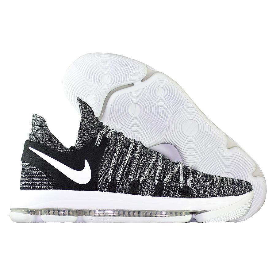 Кроссовки NikeКроссовки баскетбольные Nike Zoom KD 10 quot;Oreoquot;Мужские баскетбольные кроссовки Nike Zoom KD 9 с инновационной системой амортизации обеспечивают непревзойденную упругость и контроль, необходимые для универсальной игры.<br><br>Цвет: Чёрный<br>Выберите размер US: 11|9,5