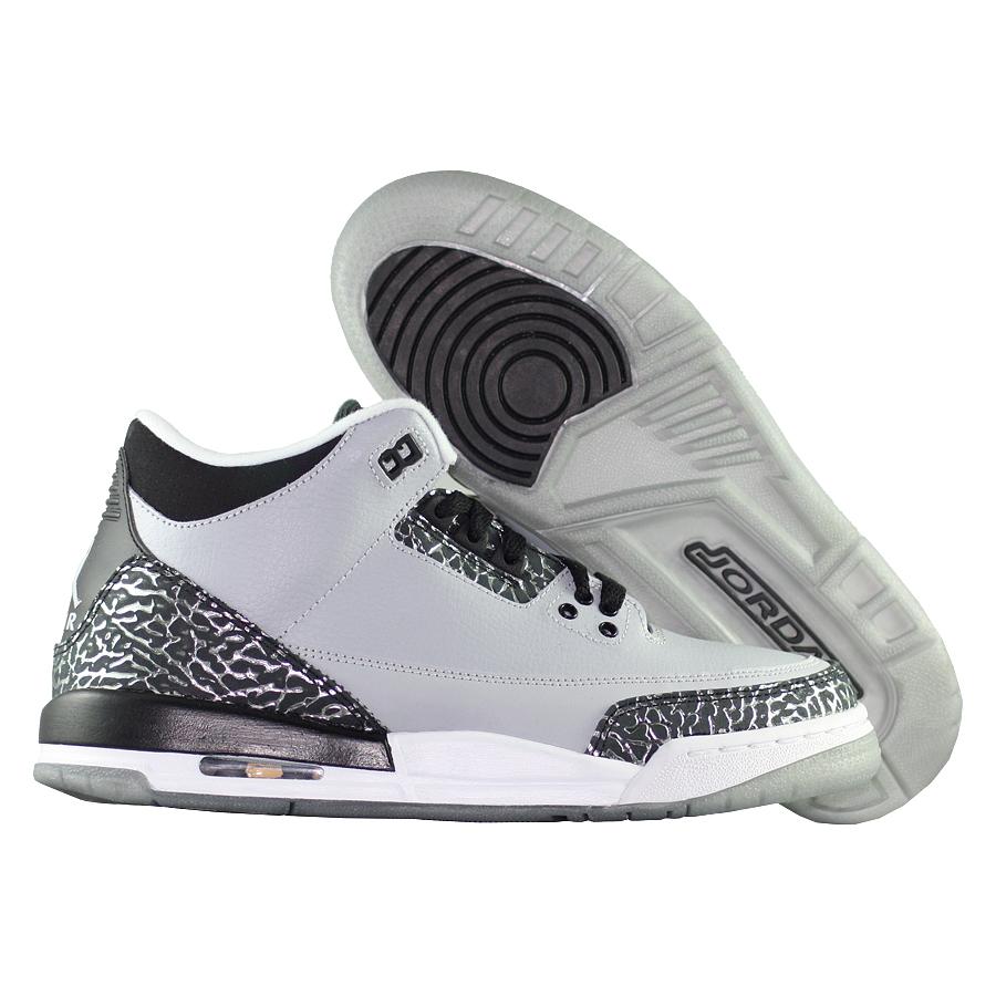 ... Купить Кроссовки баскетбольные детские Air Jordan III (3) Retro BG Wolf  Grey-1 ... ac9251426ce