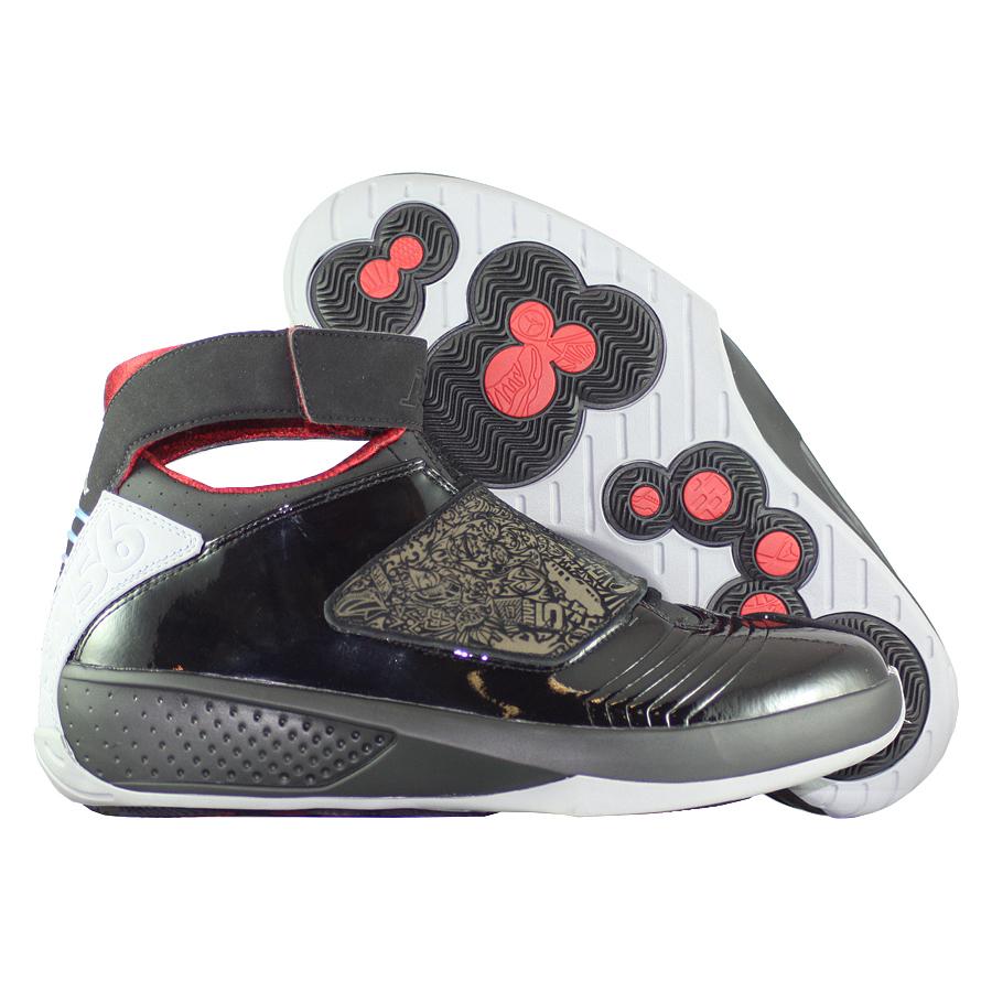 Кроссовки JordanКроссовки баскетбольные Air Jordan 20 (XX) Retro quot;Stealthquot;<br><br>Цвет: Чёрный<br>Выберите размер US: 9,5