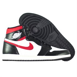 Купить Кроссовки Air Jordan 1 Retro High OG Black Gym Red-1