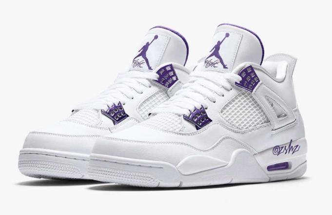 "Дата релиза Air Jordan 4 ""Court Purple"""